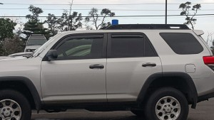 What police cars look like on the Big Island: huge SUVs of any make and color, but the all have that little blue fez on top.