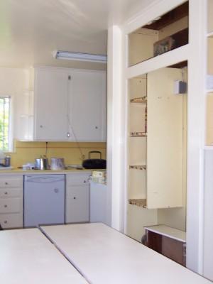 how to fix particle board cabinet door