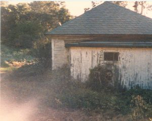 The backside of the conversational farmhouse